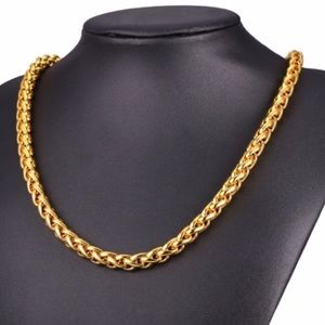 "Other - 22"" 9mm Real 18K gold plated necklace"